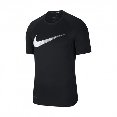 Nike Maglietta Palestra Swoosh Slim Nero Uomo
