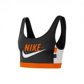 Nike Reggiseno Sportivo Logo Swoosh Nero Donna