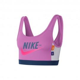 Nike Reggiseno Sportivo Logo Swoosh Rosa Donna
