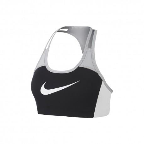 Nike Reggiseno Sportivo Medium Big Swoosh Nero Donna