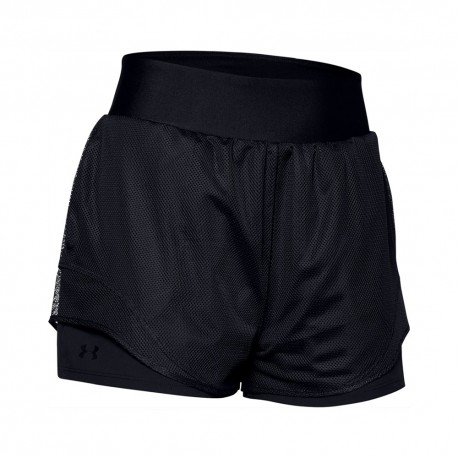 Under Armour Pantaloncino Palestra 2 In 1 Mesh Nero Donna