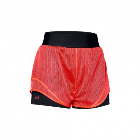 Under Armour Pantaloncino Palestra Logo Nero Donna