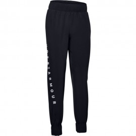 Under Armour Pantalone Palestra Wovent Train Nero Donna