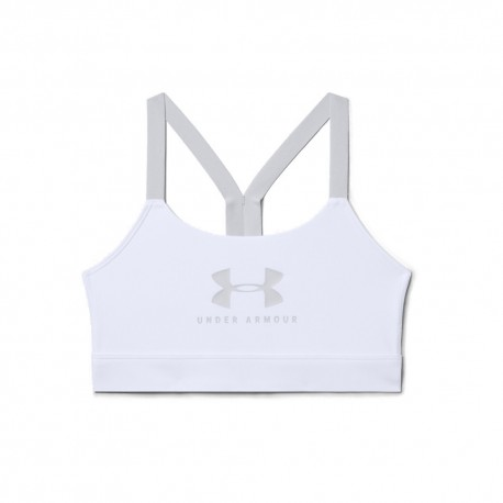 Under Armour Reggiseno Sportivo Train Mid Logo Bianco Donna
