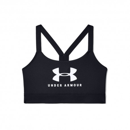 Under Armour Reggiseno Sportivo Train Mid Logo Nero Donna