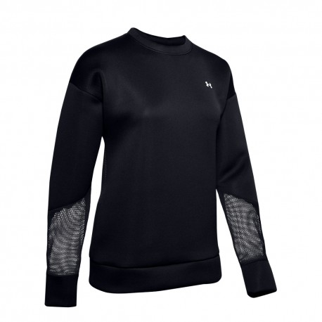 Under Armour Felpa Palestra Move Mesh Nero Donna
