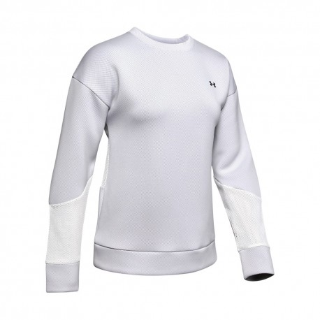Under Armour Felpa Palestra Girocollo Train Bianco Donna