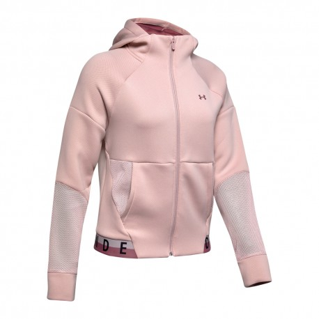 Under Armour Felpa Palestra Rosa Donna