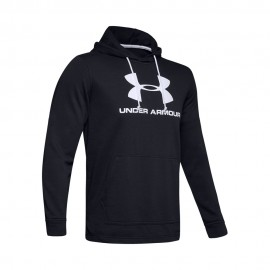 Under Armour Felpa Palestra Terry Logo Nero Uomo