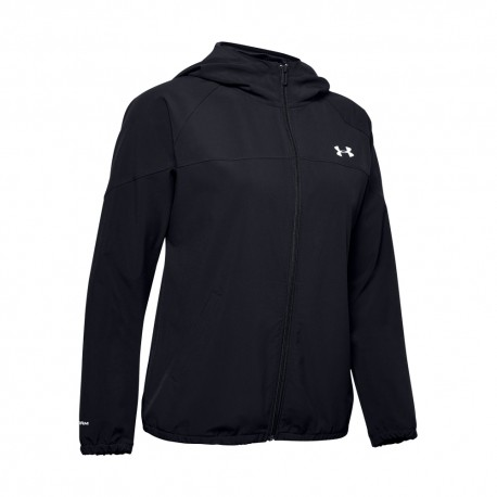 Under Armour Felpa Palestra Woven Nero Donna