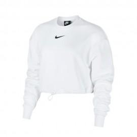 Nike Felpa Crop Top Bianco Donna