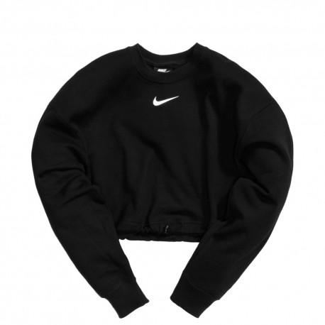 Nike Felpa Crop Top Nero Donna