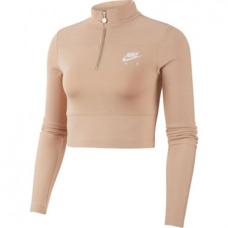 Nike Felpa Crop Top E Nsw Rosa Donna
