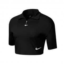 Nike Felpa Crop Top Swoosh Nero Donna