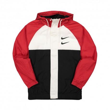 Nike Giacca A Vento Swoosh Rosso Uomo