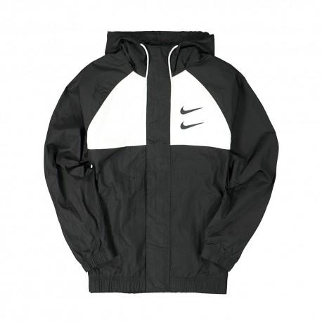 Nike Giacca A Vento Swoosh Nero Uomo