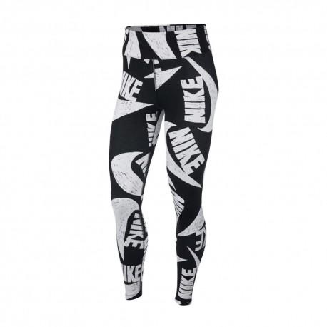Nike Leggings Multilogo Nero Donna
