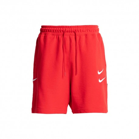 Nike Shorts Swoosh Rosso Uomo