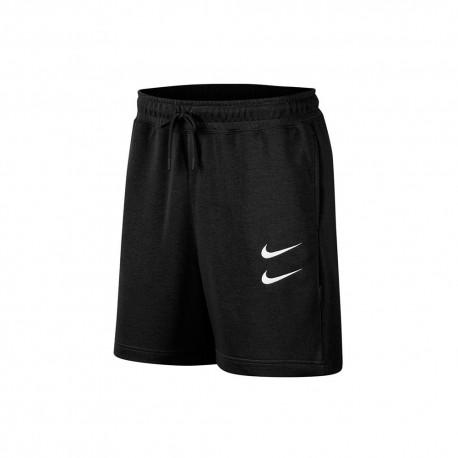 Nike Shorts Doppio Swoosh Nero Uomo