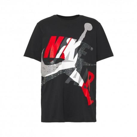 Nike T-Shirt Big Logo Jordan Nero Uomo
