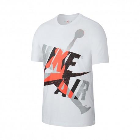 Nike T-Shirt Big Logo Jordan Bianco Uomo