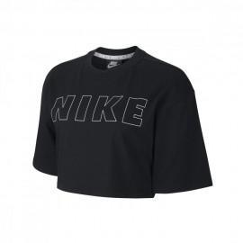 Nike T-Shirt Crop Top Air Nero Donna