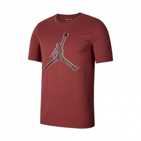 Nike T-Shirt Logo Jordan Rosso Uomo