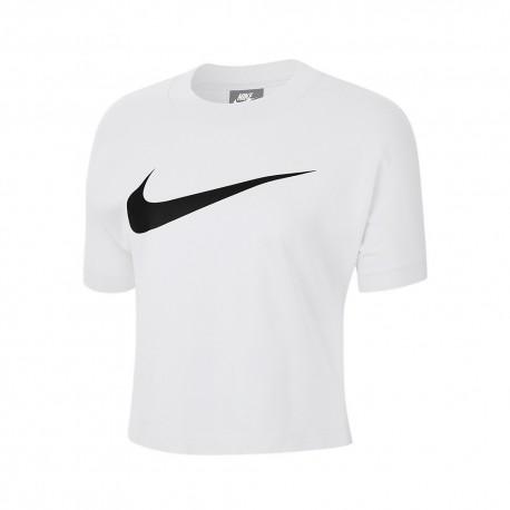 Nike T-Shirt Logo Bianco Donna