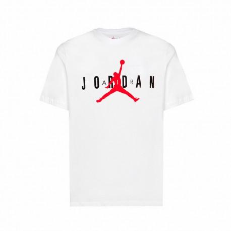 Nike T-Shirt Logo Circolare Jordan Bianco Uomo