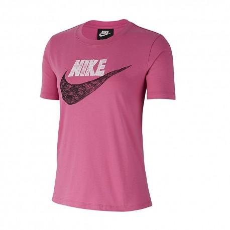 Nike T-Shirt Logo Fuxia Donna