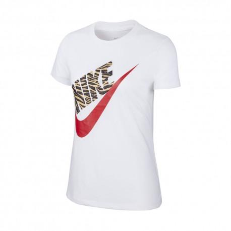 Nike T-Shirt Logo Spw Bianco Donna