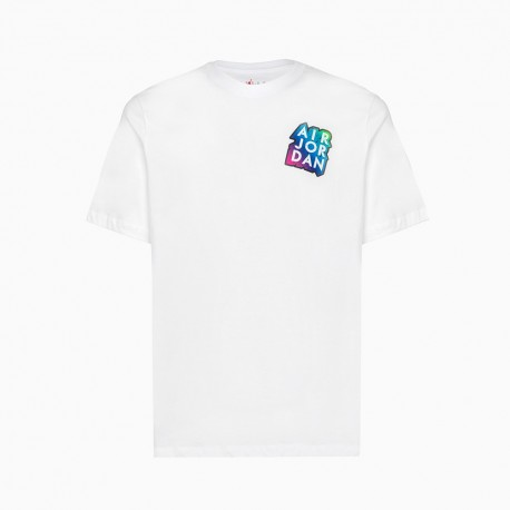 Nike T-Shirt Patch Jordan Bianco Uomo