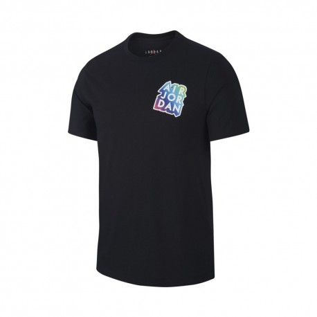 Nike T-Shirt Patch Jordan Nero Uomo