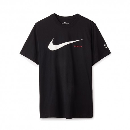 Nike T-Shirt Swoosh Nero Uomo