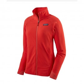 Patagonia Felpa Trekking In Pile R1 Techface Rosso Donna