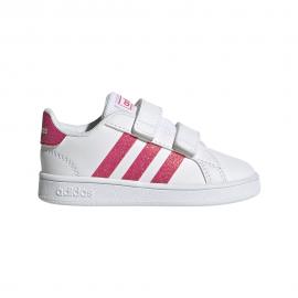 ADIDAS sneakers grand court bianco rosa bambino