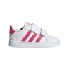 ADIDAS sneakers grand court i bianco rosa bambino