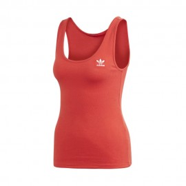 ADIDAS originals canottiera 3 band rosso donna