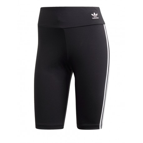 ADIDAS originals shorts ciclista 3 stripes nero donna