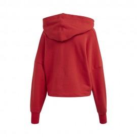 ADIDAS originals felpa crop top big logo rossa donna