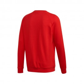 ADIDAS originals felpa girocollo logo rosso uomo