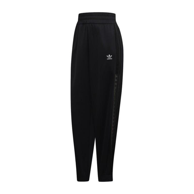 ADIDAS originals pantaloni 3 stripe pizzo nero donna