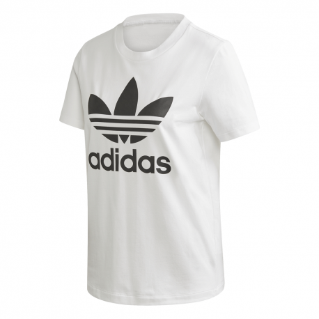 ADIDAS originals t-shirt big logo bianco donna