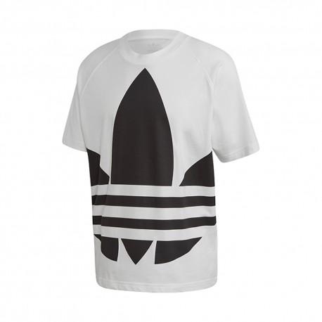 ADIDAS originals t-shirt big logo bianco uomo