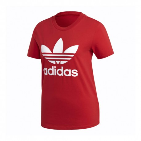 ADIDAS originals t-shirt big logo rosso donna