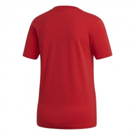 ADIDAS originals t-shirt big logo rosso donna