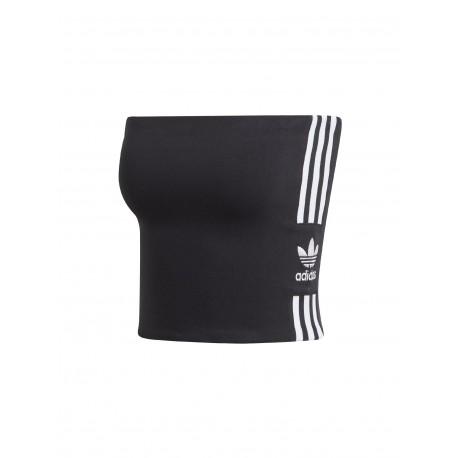 ADIDAS originals top fascia 3 stripe nero donna