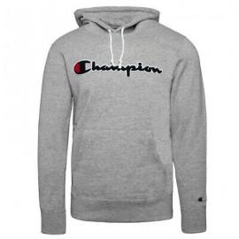 Champion Felpa Con Cappuccio Logo Grigio Uomo