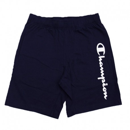 Champion Shorts Logo Di Lato Blu Uomo