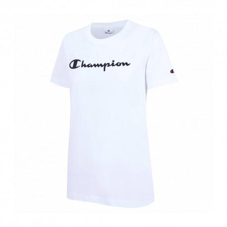 Champion T-Shirt Girocollo Bianco Donna